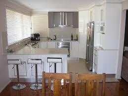 U Shaped Kitchen Designs Winow Treatment