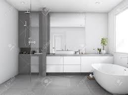 3d rendering luxus und moderne stil holz badezimmer in der nähe fenster