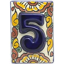 Mexican Tile House Numbers With Frame by Mexican Tile Decorative Talavera Mexican Tile