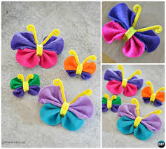 DIY Felt Butterfly Instruction Kid Friendly Crafts Ideas