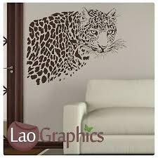 dekoration leopard in tree wall sticker large vinyl
