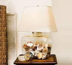 Fillable Table Lamp Base by Inspiration Fillable Glass Lamps Glass Lamps Display Sea