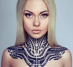 26 Tribal Neck Tattoo For Women