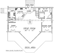 The Mountain View House Plans by Sloping Lot Mountain Log Home Plan 35128gh Architectural