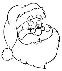 Free Santa Coloring Page Clip Art Image