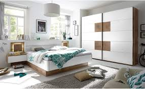 stilvolle doppelbett bettanlage mit led beleuchtung 180 x 200 cm schlafzimmer komplett set in wildeiche optik weiß 305 x 96 x 205 cm
