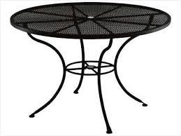 Iron patio table with umbrella hole  eRM CSD