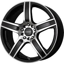 2) 18X7.5 +45 5X110/115 MB ICON BLACK WHEELS/RIMS 18