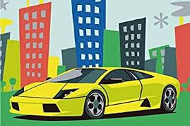 diy malerei kühlen auto malen nach zahlen sets für kinder ölgemälde kunst bilder auf der leinwand für wohnzimmer oder an der wand 8x12