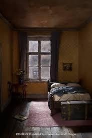 Richard Tuschman INTERIOR OF BEDROOM IN OLD HOUSE Interiors Rooms