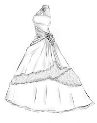 Best 25 Gown Drawing Ideas On Pinterest