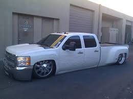 Bagged Chevy Dually On 24s