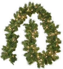 Ge Pre Lit Christmas Trees 9ft by Lighted Christmas Garland