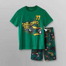 100 Monster Truck Pajamas Joe Boxer Boys Knit