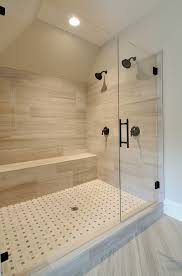 Af Fitzgerald Tile Woburn Ma by Contemporary 3 4 Bathroom With Standard Height Shower Frameless