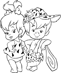The Flintstones Baby Girl Pebbles Boy Bamm Rubble Coloring Pages