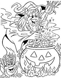 Full Image For Witch Coloring Pages Witchs Brew Free Printable Halloween