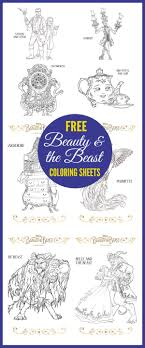 Free Beauty The Beast Coloring Sheets