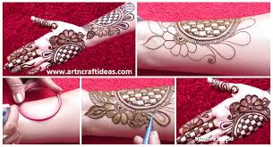 Beautiful 3D Arabic Henna Designs With The Help Of Bangle Step By Tutorial