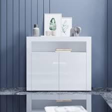 kommode sideboard mit led beleuchtung weiß hochglanz wohnzimmermöbel wohnzimmerschrank standschrank
