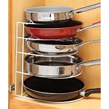 Kitchen Cabinet Pan Organizer Rack Pot Lid Shelf Holder Skillet