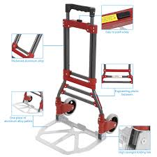 Deals Finders | Heavy Duty Aluminum Folding Hand Truck & Dolly Two ... Hand Truck Metal Two Solid Wheels Trucks Dolly Movers Safco Tuff Convertible 4070 Orangea Step Ladder Folding Cart 175lbs With Econo Air Tires Cadian Business Distributors Inc Office Supplies Mailing Mrhandtruck Happybuy Alinum 400kg Capacity Trolley Milwaukee 1000 Lb 4in1 Truck60137 The Home Depot Cboard Boxes On White Stock Illustration 172892669 2 Wheeled Best 2017 Potted Plant Green Head
