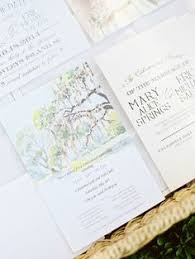 Destination wedding invitation Vintage Florida Oak Tree with Spanish
