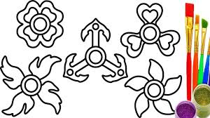How To Draw Fidget Spinner For Kids Coloring Pages