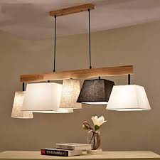 platz pendelleuchte klassisch stoff lenschirm 5 flammig gute qualität höhenverstellbar hängeleuchte modern design wohnzimmer esszimmer schlafzimmer
