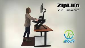 Stand Up Desk Conversion Kit Ikea by Imovr Ziplift Standing Desk Converter Youtube