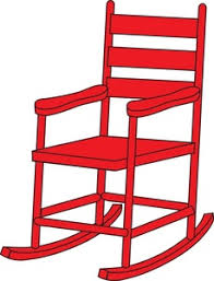 Rocking Chair Clipart Image Clip Art Illustration Of A Red Wooden