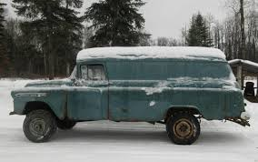 Rare & Rusty NAPCO 4×4: $3500 1958 Chevrolet Panel Wagon | Bring A ... 1958 Chevrolet 3800 For Sale 2066787 Hemmings Motor News Spartan Truck Pictures 31 Apache Pick Up Wow Sale Classiccarscom Cc1038240 Chevy Pickup Something Sinister Truckin Magazine 2065258 Restoration On Connors Motorcar Company 195558 Cameo The Worlds First Sport