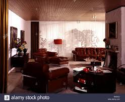 einrichtung wohnzimmer 1970er 70er stockfotografie alamy
