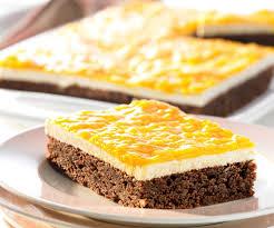 schoko nuss kuchen mit mango