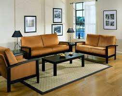 Simple Living Room Wood Furniture Design With Wall Mounted Arts And Wooden Floor Also Yellow Sectional