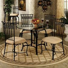 100 Small Wrought Iron Table And Chairs Cool Black Color Kitchen Set Features Black Color