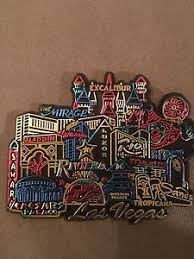 Image Is Loading Colorful Las Vegas Rubber Fridge Magnet Shiny Kitchen
