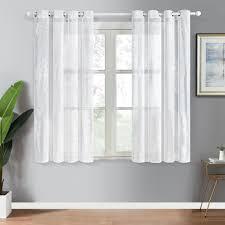 topfinel stickerei voile gardinen mit oesen in leinen optik barock vintage fuer wohnzimmer fenster tuell vorhaenge transparente dekoschal 2er set je