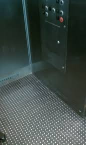 metal studded rubber flooring