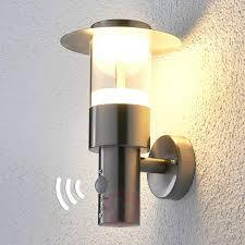 outdoor wall light lights led pir lighting with outlet lowes