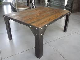 table basse industriel acier et bois m déco industriel