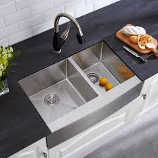 Home Depot Fireclay Farmhouse Sink by Glacier Bay Farmhouse Apron Front Stainless Steel 33 In Double
