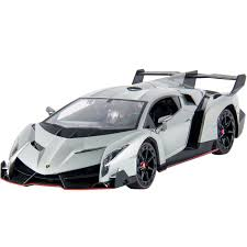 Best Choice Products 1 14 Scale RC Lamborghini Veneno Realistic Driving Gravity Sensor Remote Control Car Silver