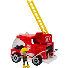 100 Big Red Fire Truck Shop Hape Playscapes Wooden Play Set Free
