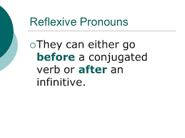22 Reflexive Pronouns They Can Either Go Before A Conjugated Verb Or After An Infinitive