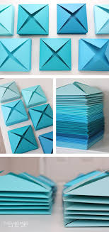 Renter Friendly 3D Paper Wall Art