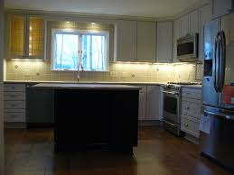 recessed light kitchen sink and using small sliding glass