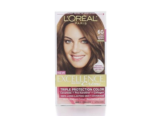 L'Oréal Paris Excellence Creme Hair Color - 6G Light Golden Brown
