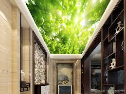 großhandel 3d decke wandbild landschaft malerei wald tapeten wohnkultur für wohnzimmer decken 3d tapeten yeyueman6666 8 51 auf de dhgate