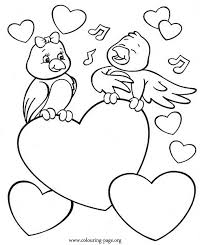 A Bird Singing To His Beloved Coloring Page